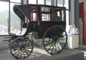 Der Kutschensimulator steht in Halle 2