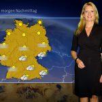 Wetterkarte der ARD Wetter News mit Claudia Kleinert, Foto copyright ARD Wetterteam